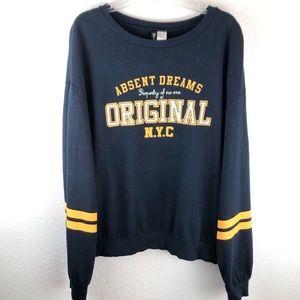 Collegiate Football Style Sweatshirt